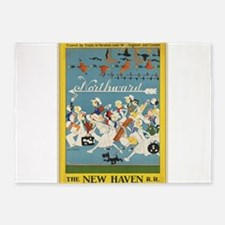 Vintage poster - New Haven Railroad 5'x7'Area Rug
