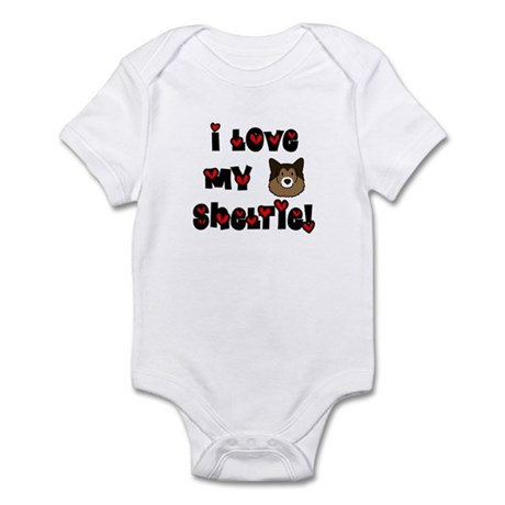 I Love My Sheltie Baby Bodysuit