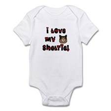 I Love My Sheltie Baby Bodysuit