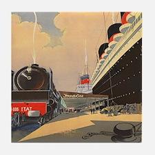 Cool Ocean liners Tile Coaster