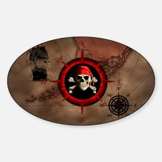 Pirate Compass Rose And Map Decal