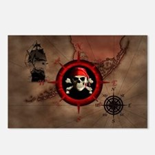 Pirate Compass Rose And Map Postcards (Package of