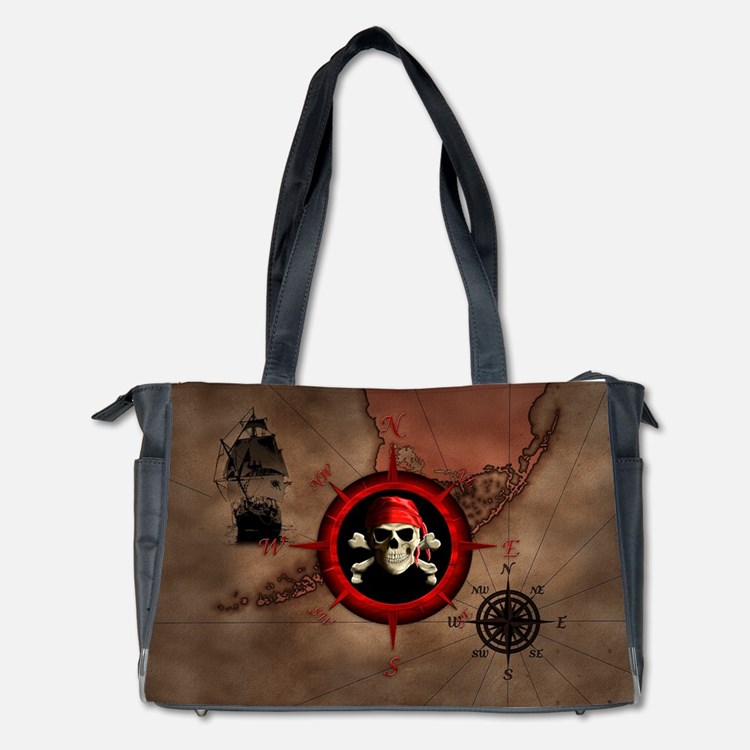 Pirate Compass Rose And Map Diaper Bag