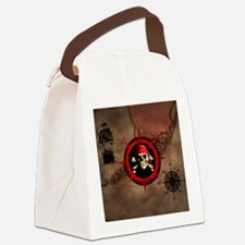 Pirate Compass Rose And Map Canvas Lunch Bag