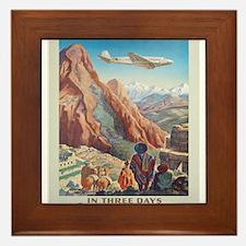 Vintage poster - Peru Framed Tile