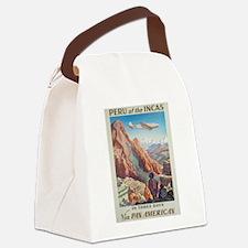 Vintage poster - Peru Canvas Lunch Bag