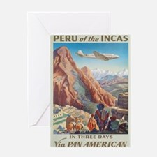 Vintage poster - Peru Greeting Cards