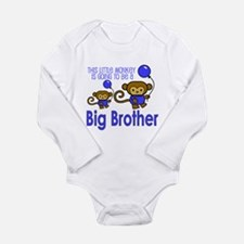 Cute Santa going to be a big brother Long Sleeve Infant Bodysuit