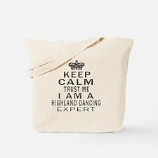Highland dancing Dance Expert Designs Tote Bag