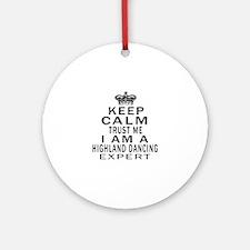 Highland dancing Dance Expert Desig Round Ornament