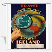 Vintage poster - Ireland Shower Curtain