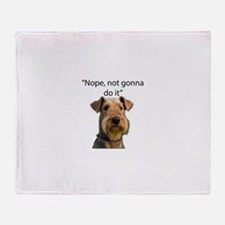 Airedale Terrier Stubborn Sayings Throw Blanket