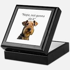 Airedale Terrier Stubborn Sayings Keepsake Box
