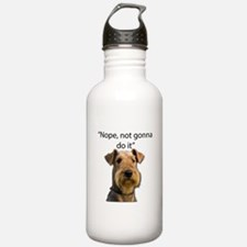 Airedale Terrier Stubborn Sayings Water Bottle