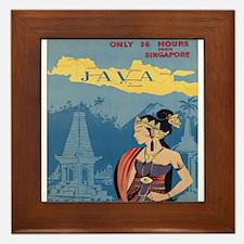 Vintage poster - Java Framed Tile