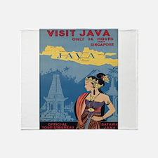 Vintage poster - Java Throw Blanket