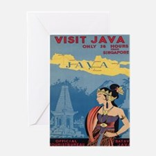 Vintage poster - Java Greeting Cards