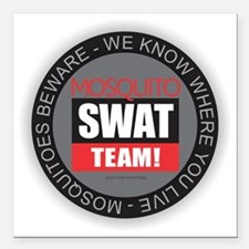 "Mosquito Swat Team Square Car Magnet 3"" x 3"""