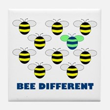 BEE DIFFERENT Tile Coaster
