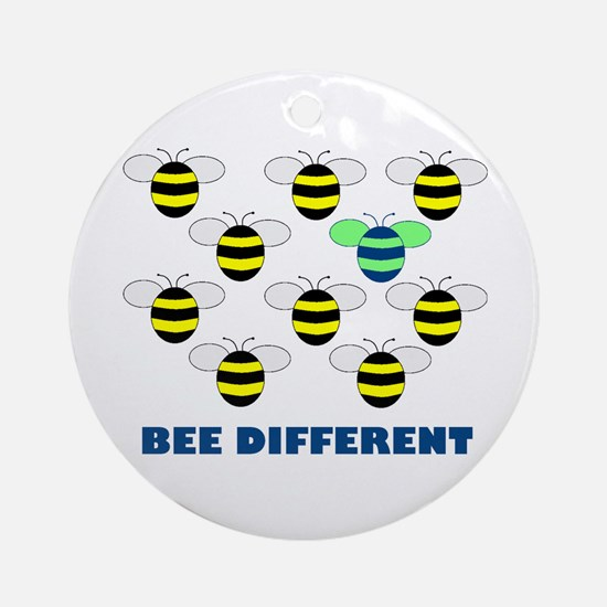 BEE DIFFERENT Ornament (Round)