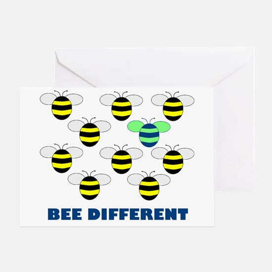 BEE DIFFERENT Greeting Card