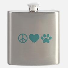 Peace, Love, Pets Flask