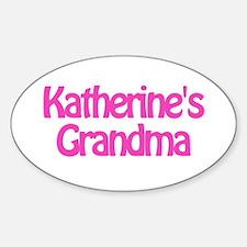 Katherine's Grandma Oval Decal