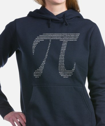 Pi Symbol w/ Numbers Women's Hooded Sweatshirt