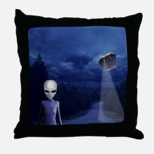 Alien Nightwatch Throw Pillow