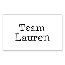 Team Lauren Rectangle Decal