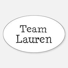 Team Lauren Oval Decal
