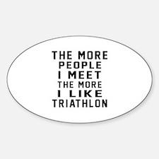 I Like More Triathlon Decal