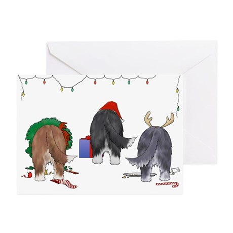 Bearded Collie Christmas Cards (Pk of 20)