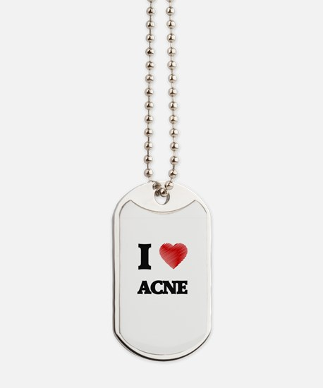 I Love ACNE Dog Tags