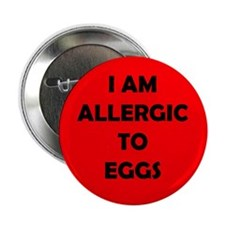 Red Egg Allergy Button