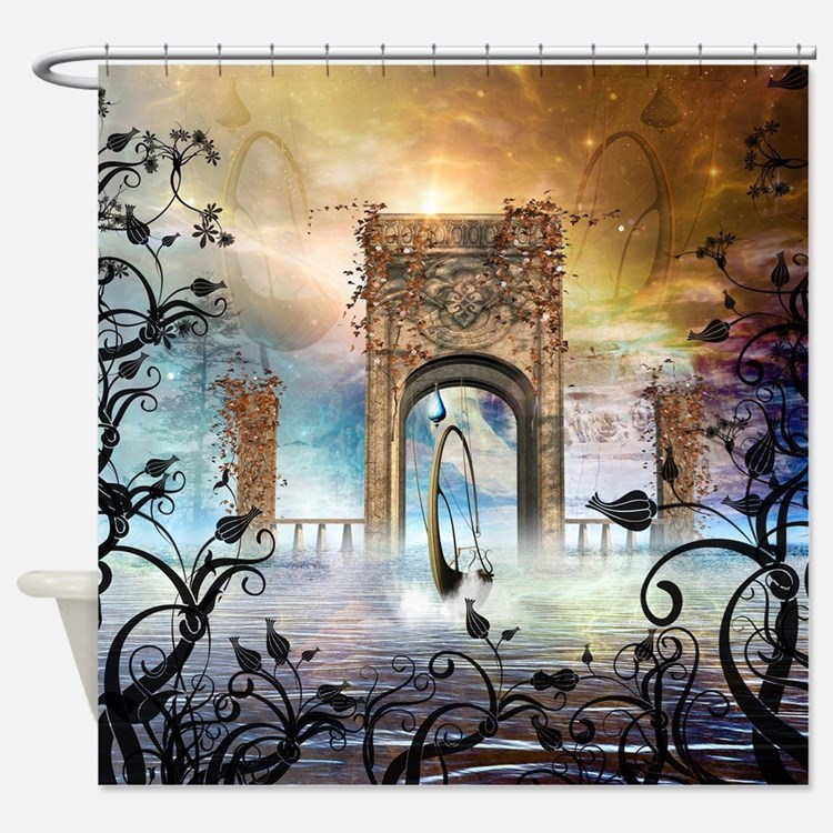 Fantasy shower curtains fantasy fabric shower curtain liner for Fantasy shower curtains