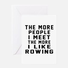 I Like More Rowing Greeting Card