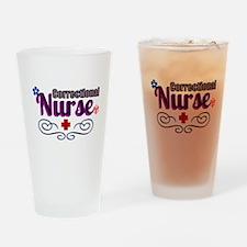 Pretty Correctional Nurse Drinking Glass