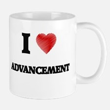 I Love ADVANCEMENT Mugs