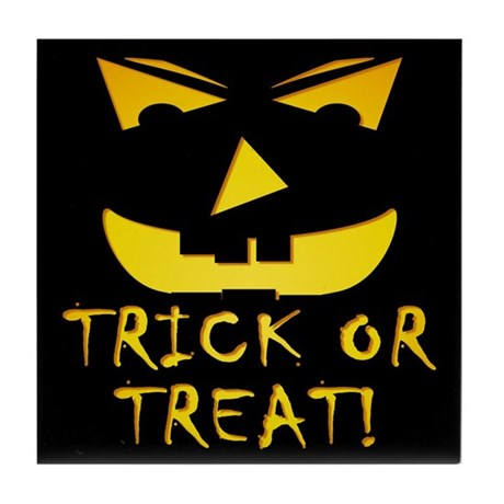 Trick or Treat! Tile Coaster
