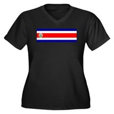 costarica Women's Plus Size V-Neck Dark T-Shirt