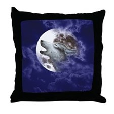Moon Wolf ~ Throw Pillow