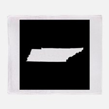 tennessee white black Throw Blanket