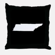 tennessee white black Throw Pillow