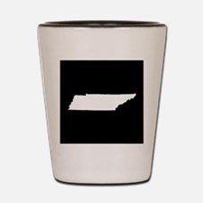 tennessee white black Shot Glass