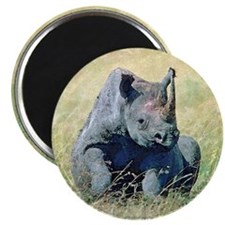 Seated Baby Rhino Magnet