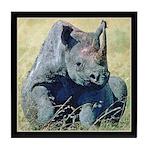 Seated Baby Rhino Tile Coaster
