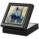 Seated Baby Rhino Keepsake Box