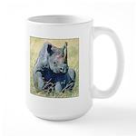 Seated Baby Rhino Large Mug