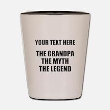 Custom Grandpa Myth Legend Shot Glass